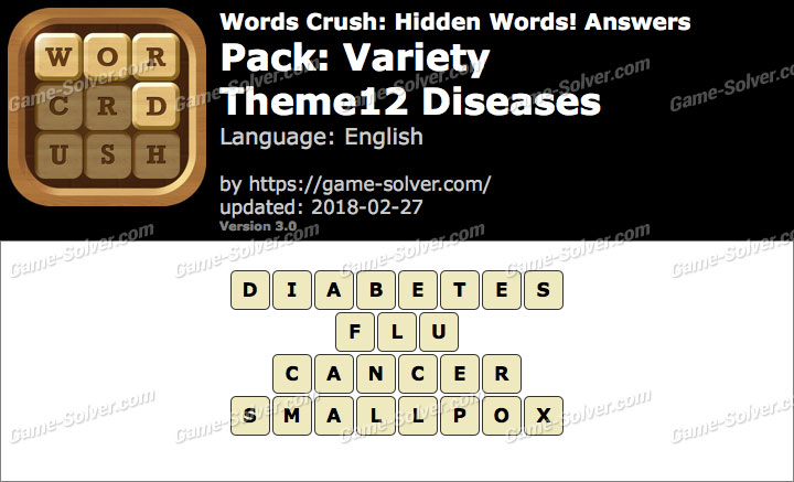 Words Crush Variety-Theme12 Diseases Answers