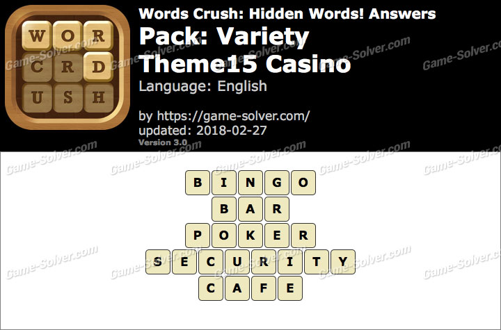 Words Crush Variety-Theme15 Casino Answers