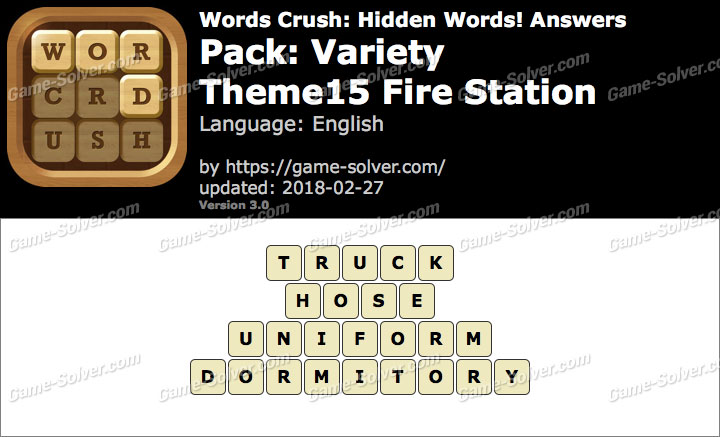 Words Crush Variety-Theme15 Fire Station Answers