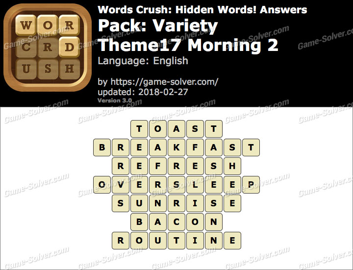 Words Crush Variety-Theme17 Morning 2 Answers