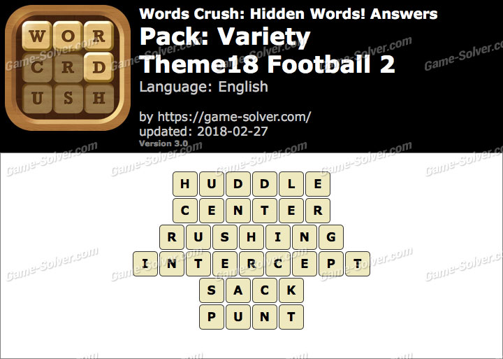Words Crush Variety-Theme18 Football 2 Answers