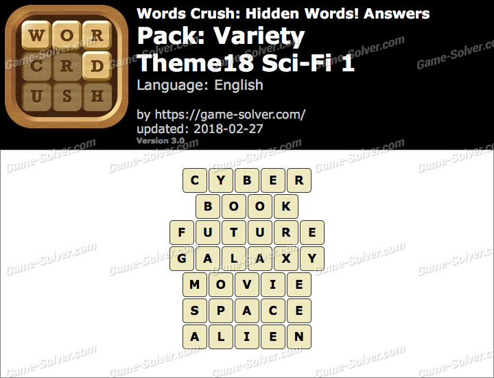 Words Crush Variety-Theme18 Sci-Fi 1 Answers