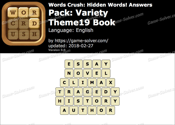 Words Crush Variety-Theme19 Book Answers