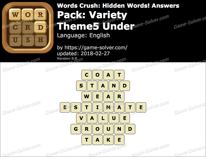 Words Crush Variety-Theme5 Under Answers