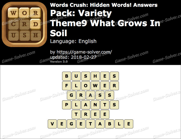 Words Crush Variety-Theme9 What Grows In Soil Answers