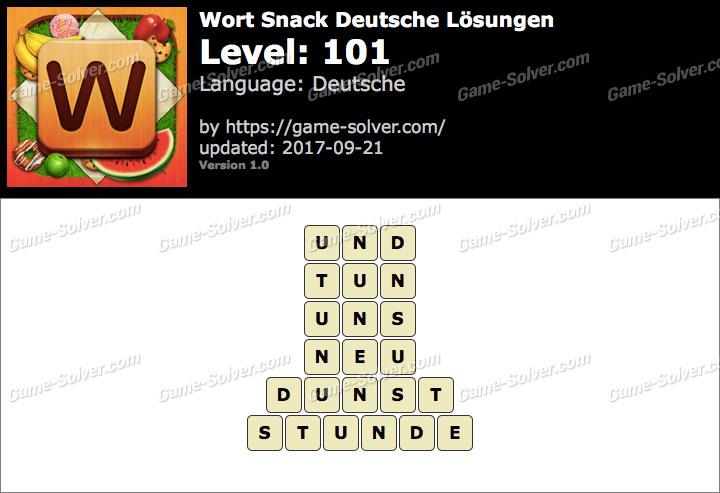 Wort Snack Level 101 Lösungen