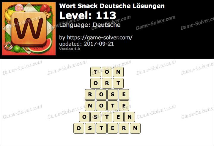 Wort Snack Level 113 Lösungen