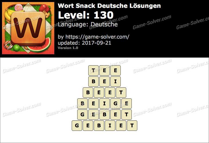 Wort Snack Level 130 Lösungen