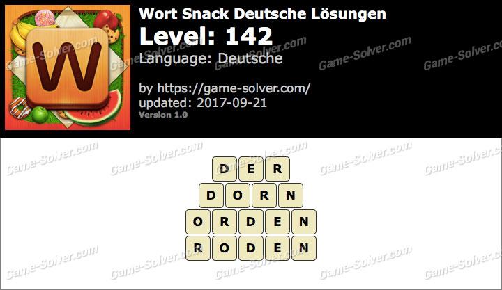 Wort Snack Level 142 Lösungen