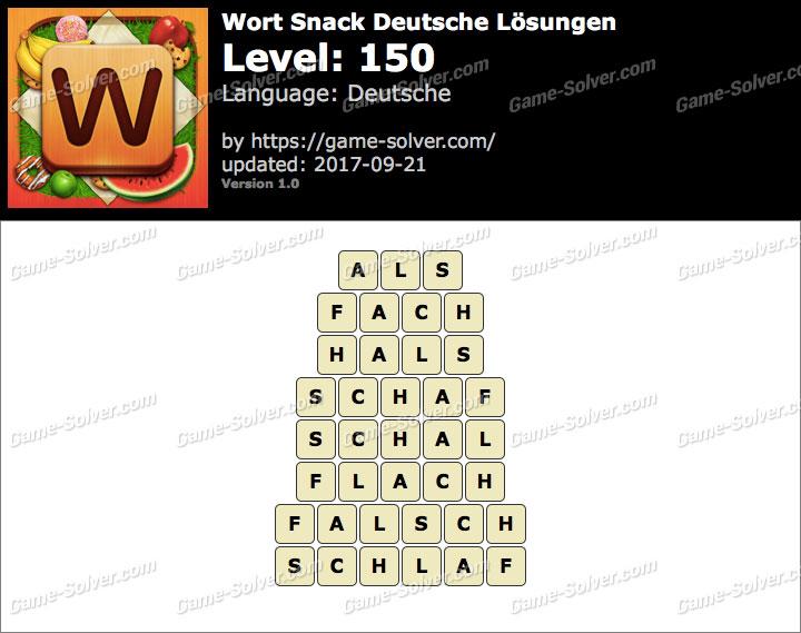 Wort Snack Level 150 Lösungen