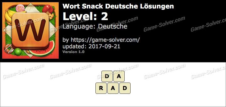 Wort Snack Level 2 Lösungen