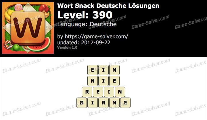 Wort Snack Level 390 Lösungen