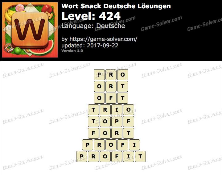 Wort Snack Level 424 Lösungen