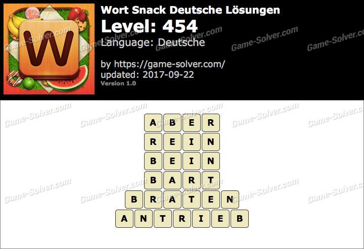 Wort Snack Level 454 Lösungen