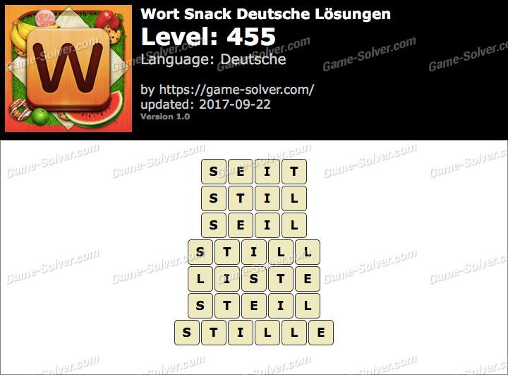 Wort Snack Level 455 Lösungen