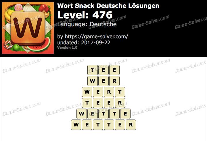 Wort Snack Level 476 Lösungen
