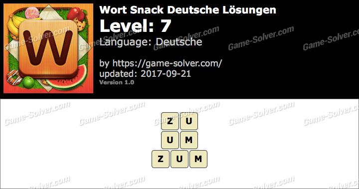 Wort Snack Level 7 Lösungen
