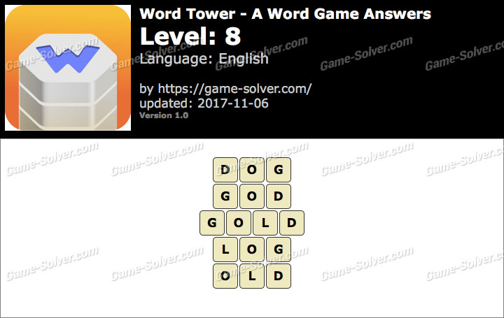 Word Tower Level 8 Answers