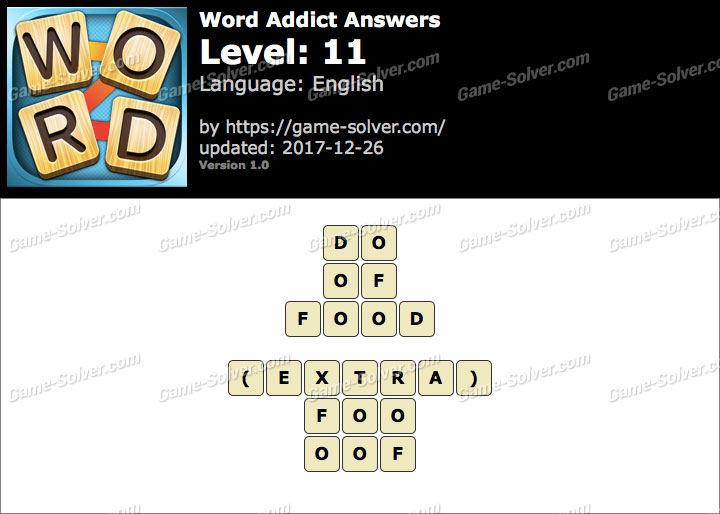 Word Addict Level 11 Answers