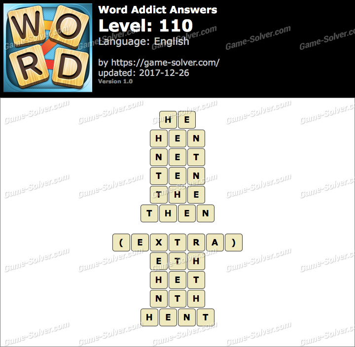 Word Addict Level 110 Answers