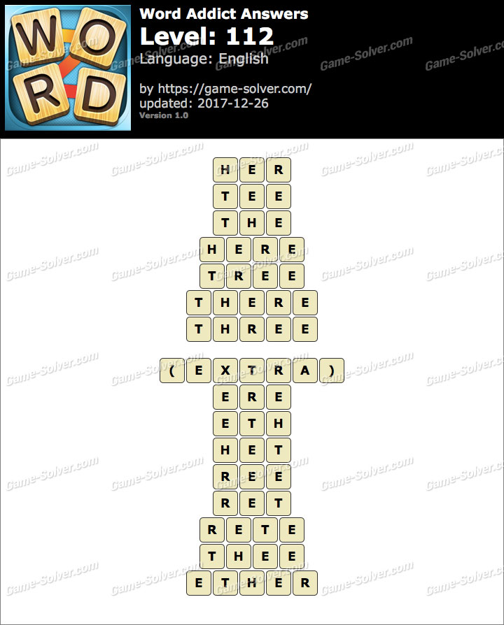 Word Addict Level 112 Answers