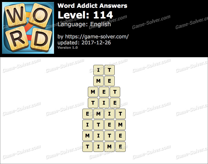 Word Addict Level 114 Answers