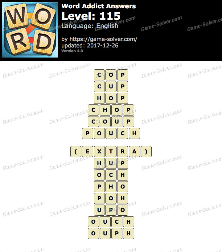 Word Addict Level 115 Answers