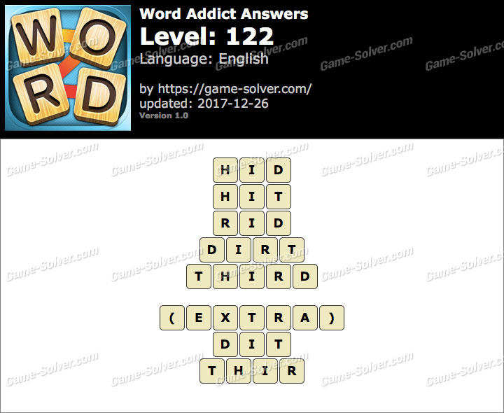 Word Addict Level 122 Answers