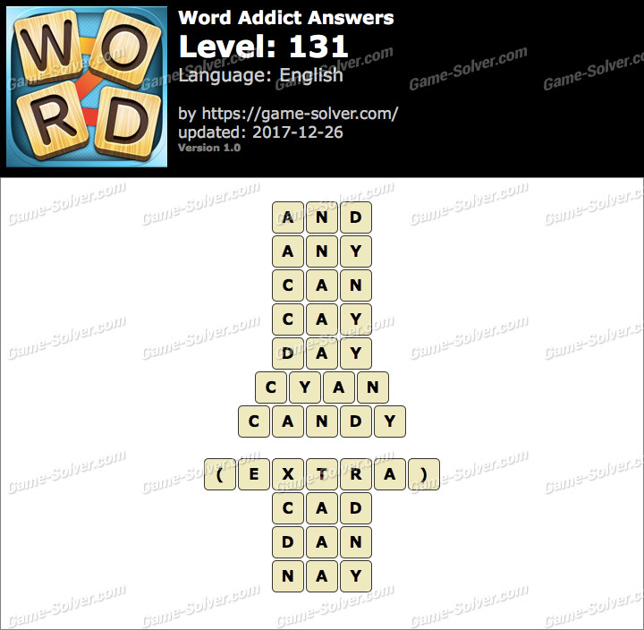 Word Addict Level 131 Answers