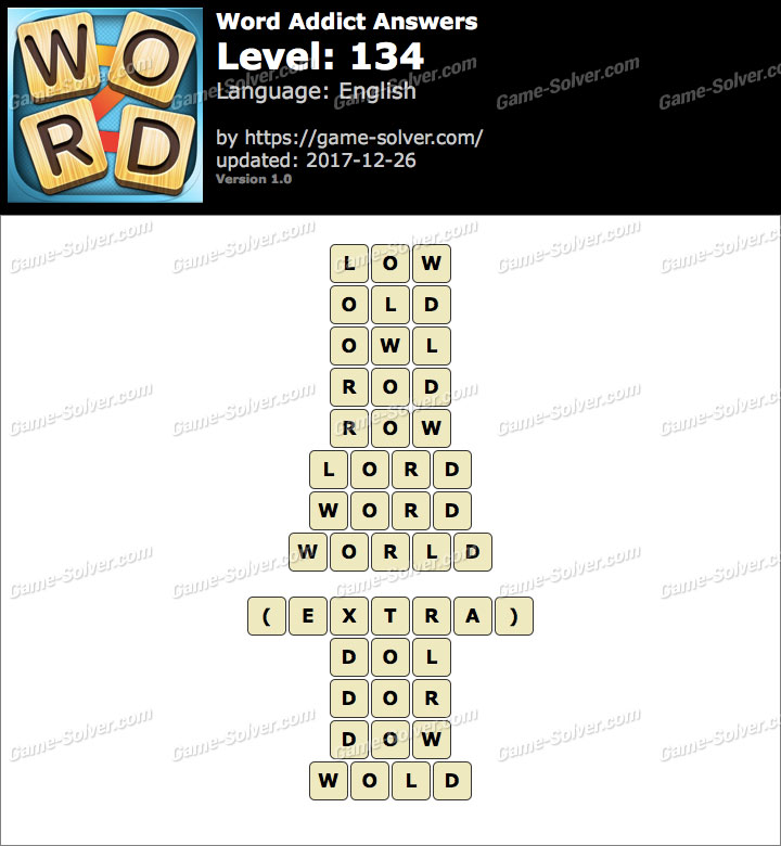Word Addict Level 134 Answers
