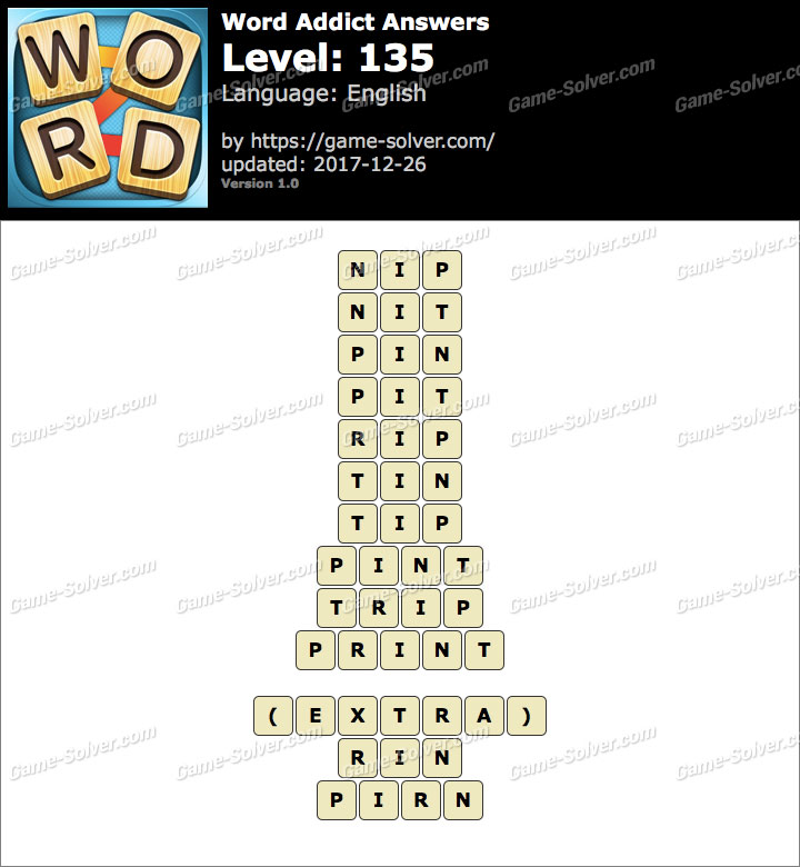 Word Addict Level 135 Answers