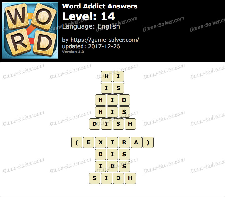 Word Addict Level 14 Answers