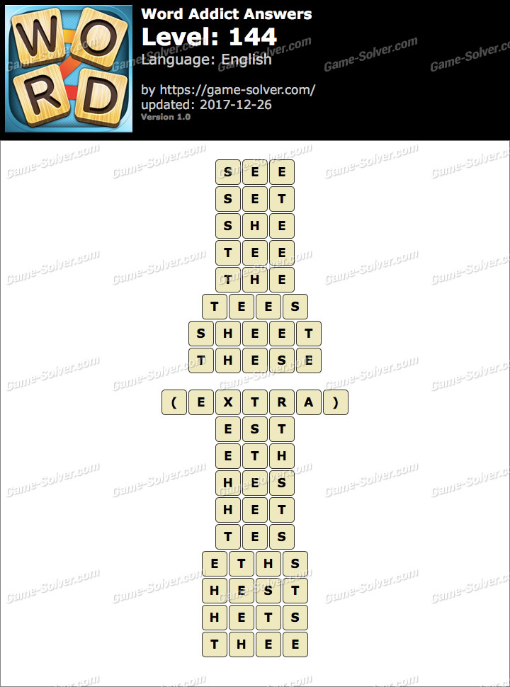 Word Addict Level 144 Answers
