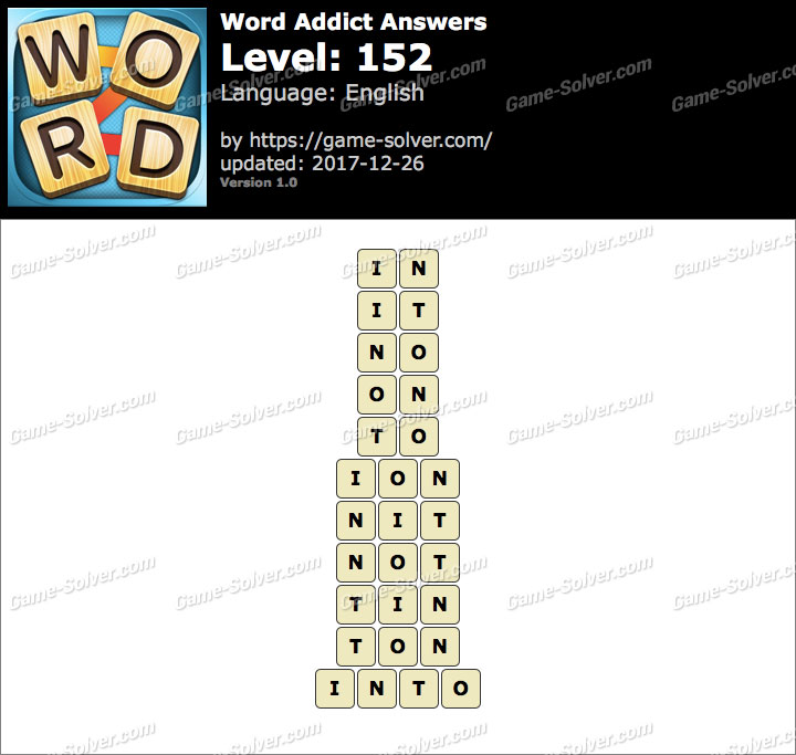 Word Addict Level 152 Answers