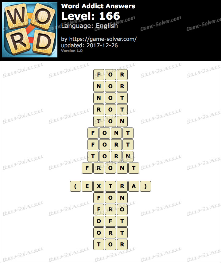 Word Addict Level 166 Answers