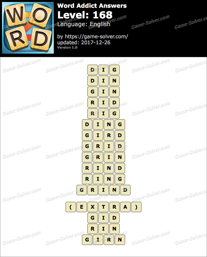 Word Addict Level 168 Answers