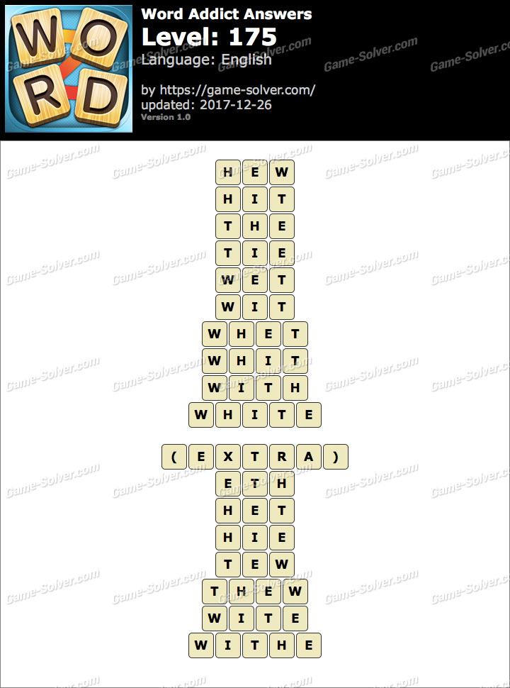 Word Addict Level 175 Answers
