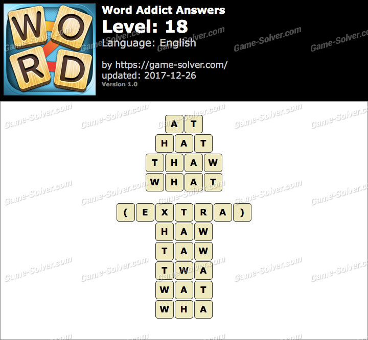 Word Addict Level 18 Answers