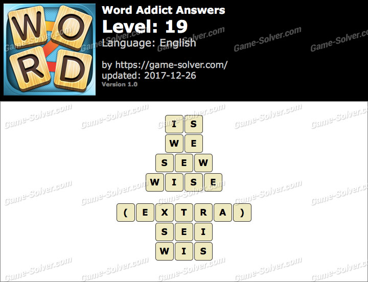 Word Addict Level 19 Answers