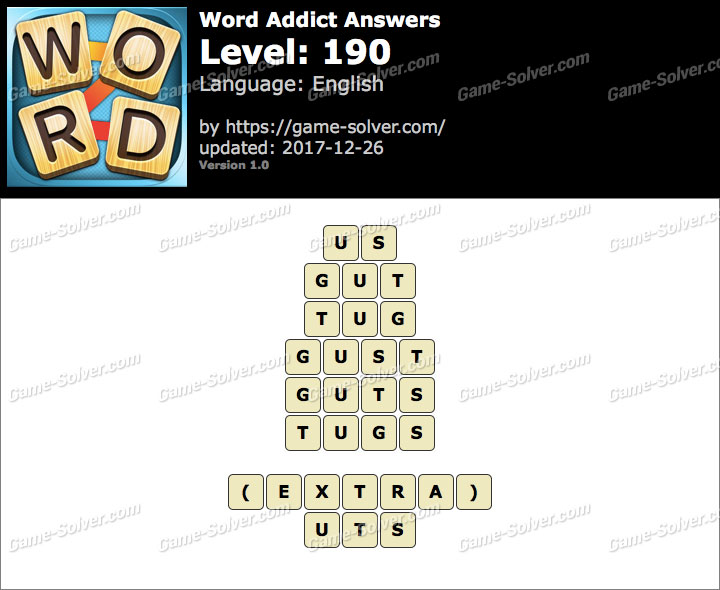 Word Addict Level 190 Answers