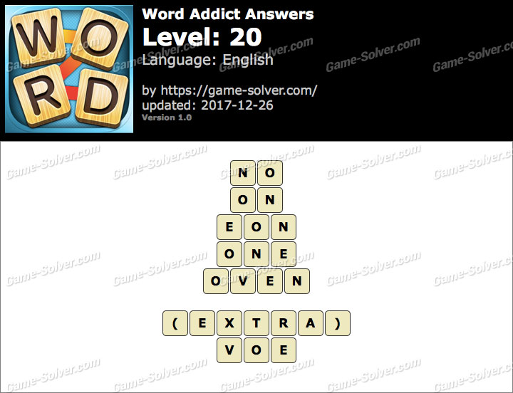 Word Addict Level 20 Answers
