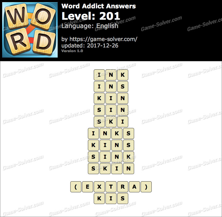 Word Addict Level 201 Answers