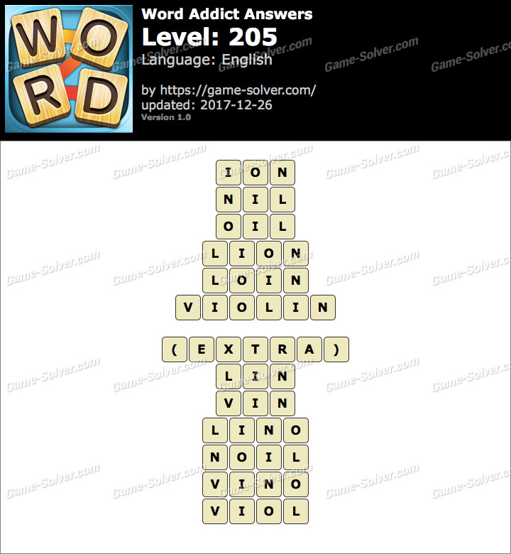 Word Addict Level 205 Answers