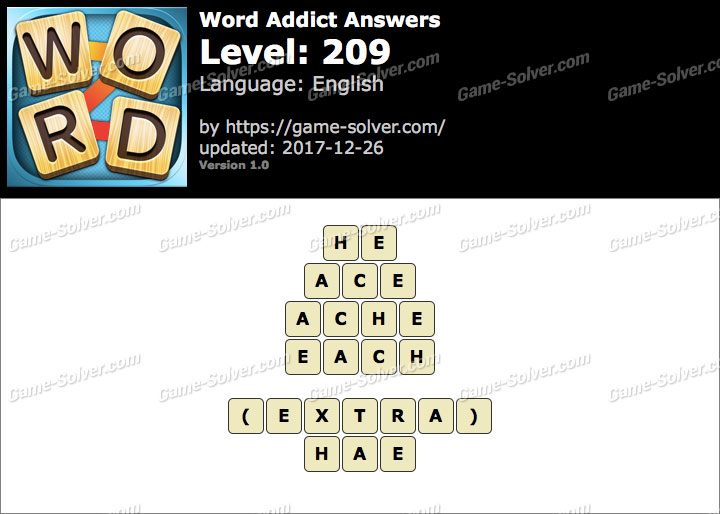 Word Addict Level 209 Answers