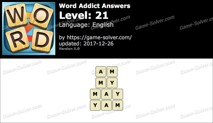 Word Addict Level 21 Answers