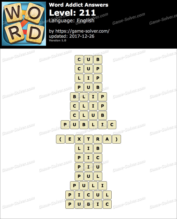 Word Addict Level 211 Answers