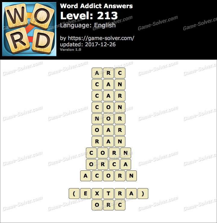 Word Addict Level 213 Answers