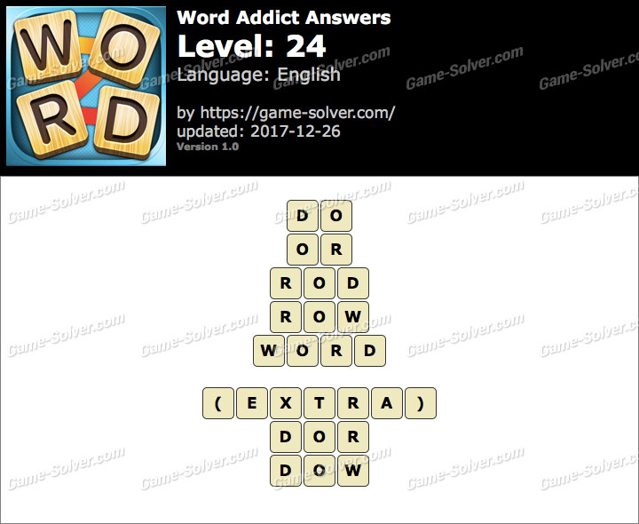 Word Addict Level 24 Answers
