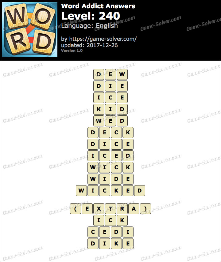 Word Addict Level 240 Answers