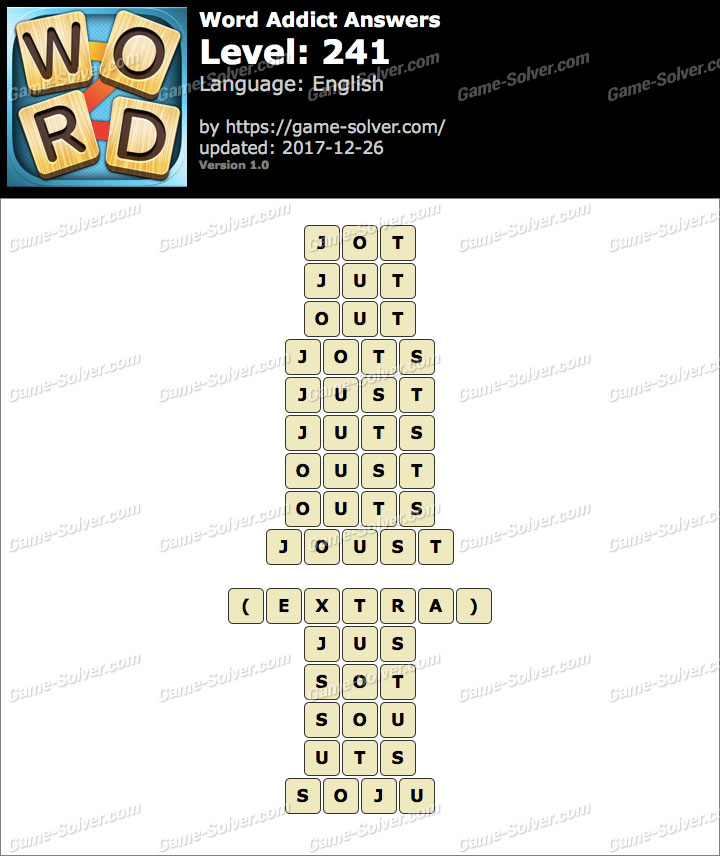Word Addict Level 241 Answers